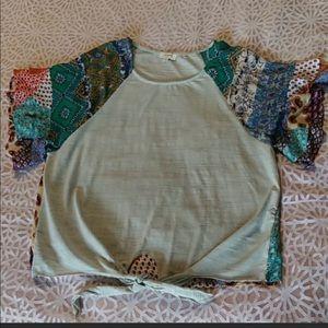 Umgee boho patchwork top
